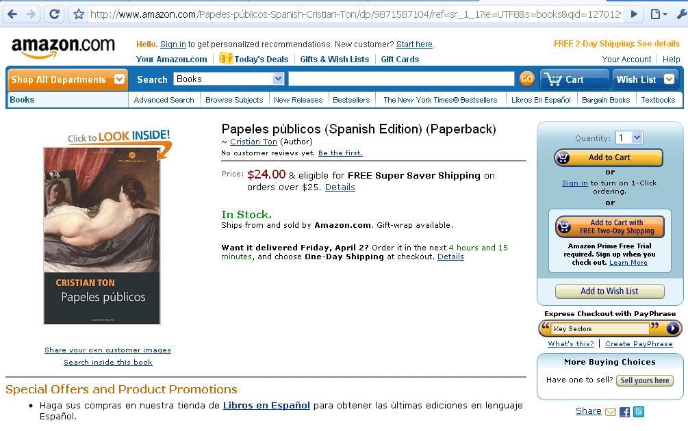 Papeles públicos en Amazon